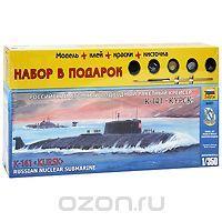 Набор для сборки и раскрашивания Российский атомный подводный ракетный крейсер К-141 Курск