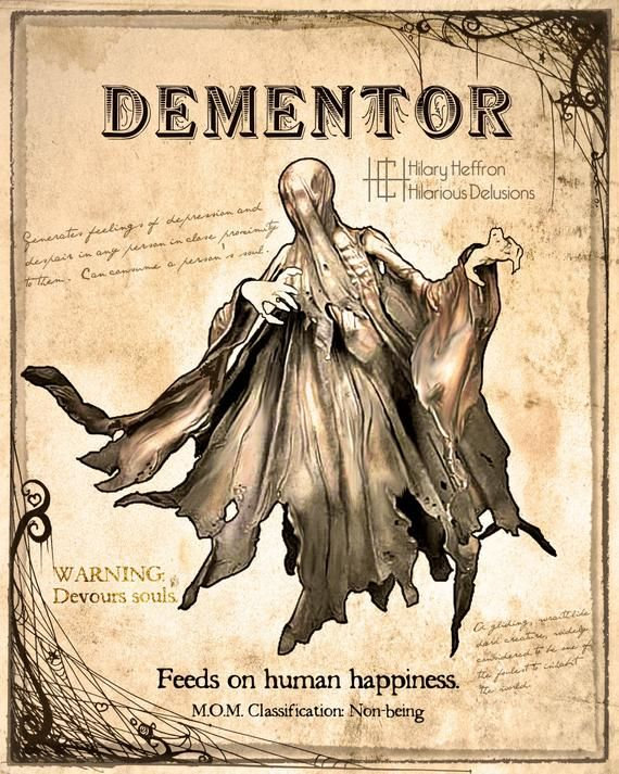Dementor Fantastic Beasts Book Page Digital Painting Print Etsy Harry Potter Creatures Fantastic Beasts Book Harry Potter Drawings