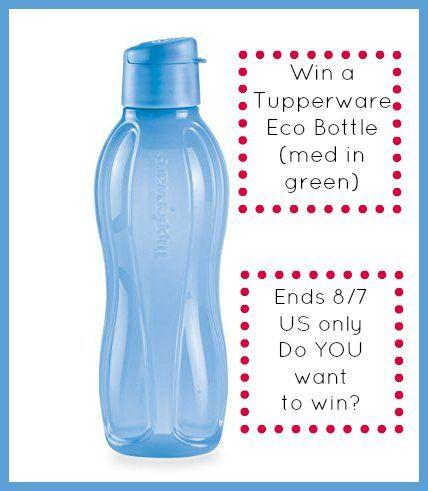 tupperware eco bottle med win