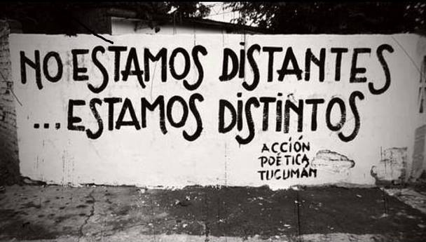 No estamos distantes... estamos distintos. #frases