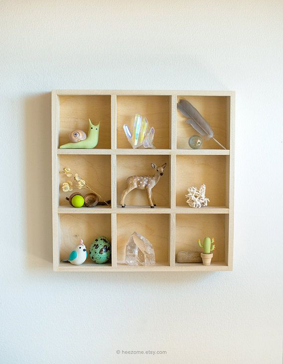 """Shadow Box Size: 8.5"""" x 8.5"""" x 1.5"""" (each little cell is 2.5"""" x 2.5""""x 1 1/4"""")  $95"""