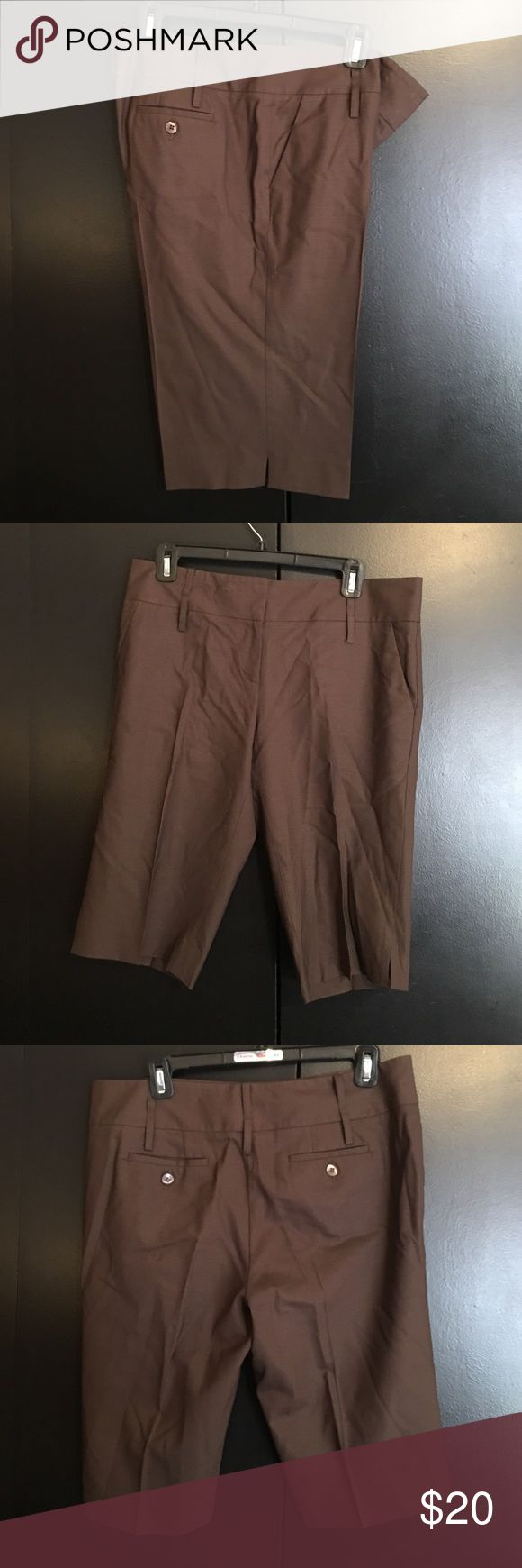 Brown trouser shorts by Laundry Brown trouser/slacks  shorts by Laundry shelli seal. In perfect condition Laundry by Shelli Segal Shorts Bermudas