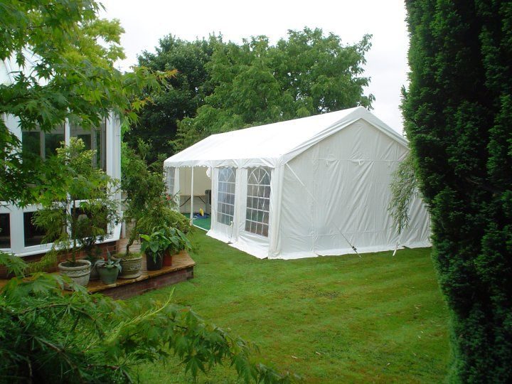Gala Tent Marquee In A Customers Lush Garden Fantastic For Family Parties