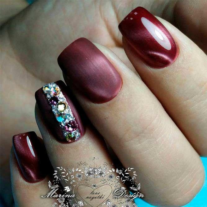 48 Fantastic Burgundy Nails For Super Stylish Ladies – nails polish
