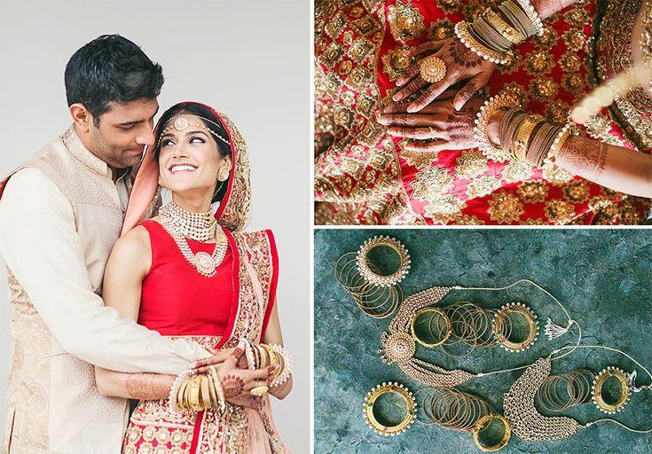 Maharani style jewellery for Melanie of WeddingSutra. Photo Courtesy - Our Labor of Love.
