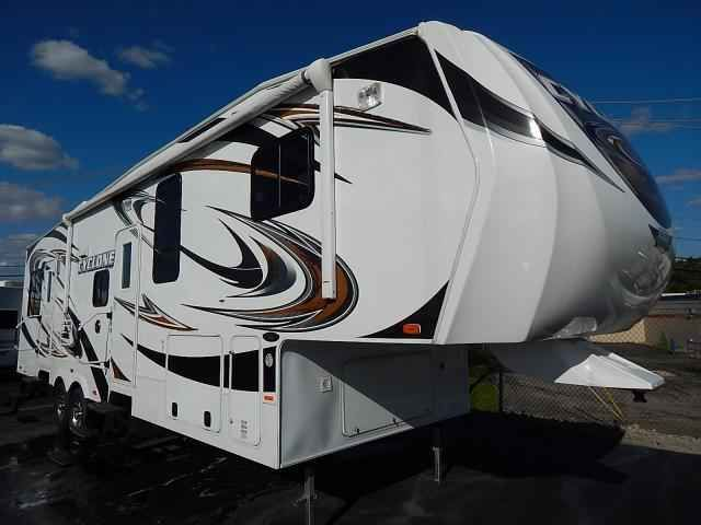 2012 Used Heartland CYCLONE 3010 Toy Hauler in Illinois IL.Recreational Vehicle, rv, 2012 HEARTLAND CYCLONE 3010, TOY HAULER for sale. 5th wheel toy hauler. 2012 Heartland Cyclone 3010 used fifth wheel toy hauler for sale at Rick's RV Center in Joliet, IL. Perfect for storing your motorcycles, golf cart, ATV or UTV. This used toy hauler features Heartland's Weather Guard thermal protection package, electric awning, outside speakers, electric rear stabilizing jacks, roof ladder…