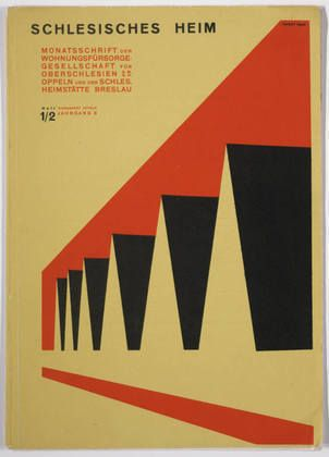 "MoMA | The Collection | Herbert Bayer. ""Schlesisches Heim,"" issue 1/2, 8th year. 1927"