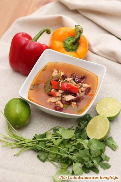 Nóri mindenmentes konyhája: Mexikói csirke fajita leves (glutén-, tejtermék-, tojásmentes)