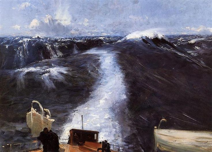 Atlantic Storm, 1876 by John Singer Sargent. Impressionism. marina
