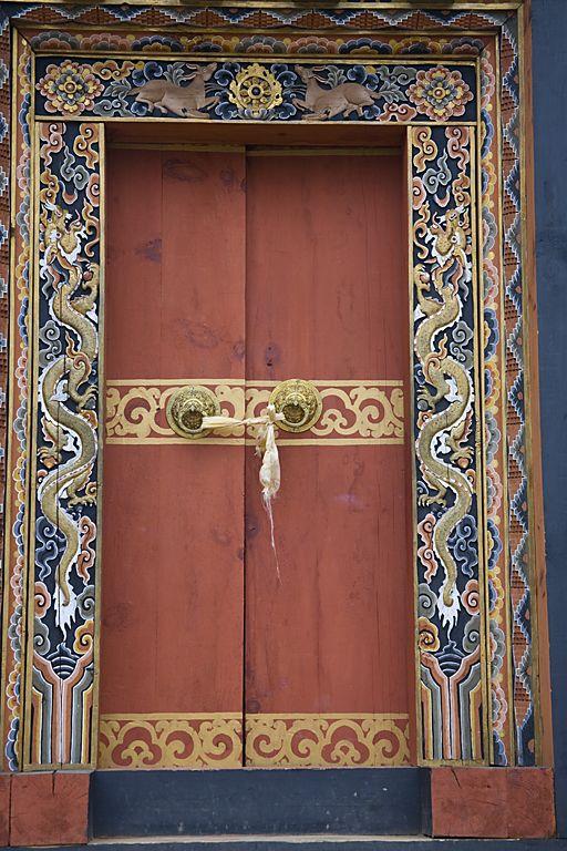 door in Bhutan