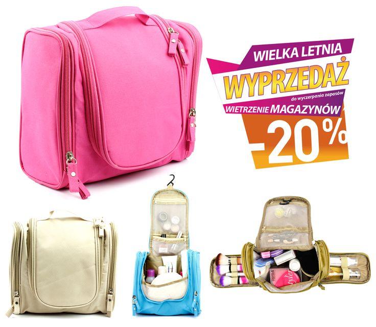 Wszystkie kosmetyczki taniej o -20%! W tym także ta podróżna torba kosmetyczna, której nie straszne trudne warunki oraz wyjazdowa ilość kosmetyków. Polecamy!