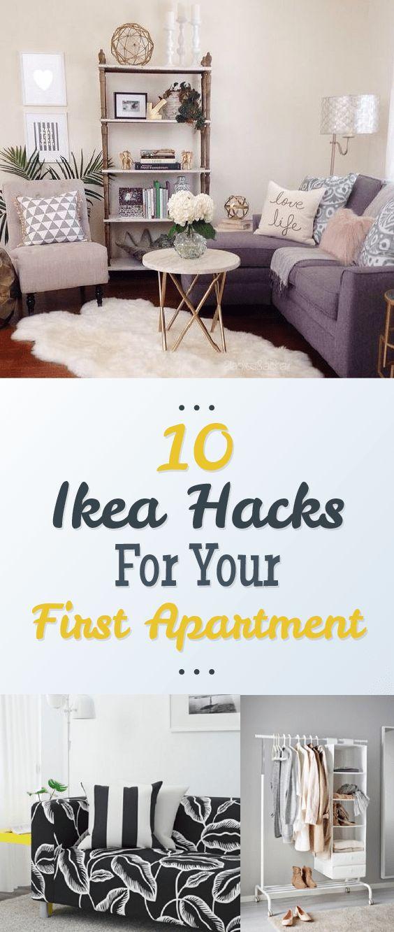 10 ikea hacks for your first apartment my new apartment pinterest wohnung gestalten erste. Black Bedroom Furniture Sets. Home Design Ideas