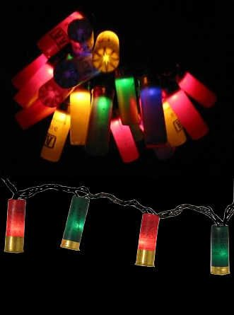 Redneck Party/Christmas lights...nothing says celebration like lighting up spent shell casings...LOL