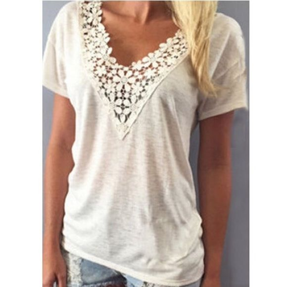 COMING SOON Cute lace tee shirt! Tops