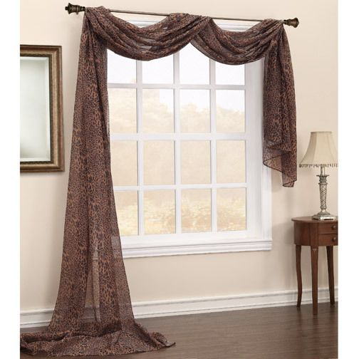 Sheer Window Scarf | about SHEER PANEL WINDOW TREATMENTS ...