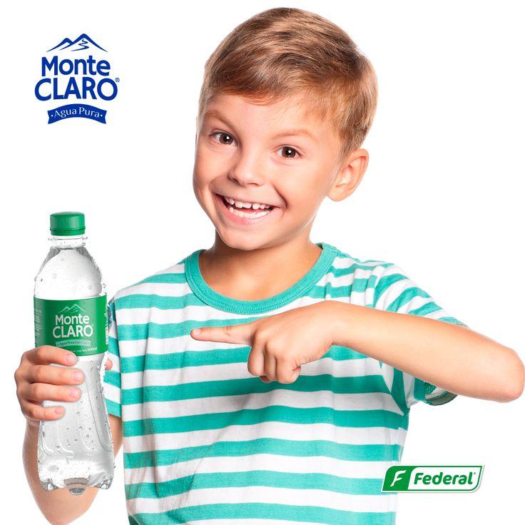 ¡Un agua para todos! ¿Sabías que, si desde niño se consume agua, el organismo crecerá teniendo un mejor funcionamiento? Empieza con tus hijos y deja que Monte Claro se vuelva parte de su vida.  #Aguadevida