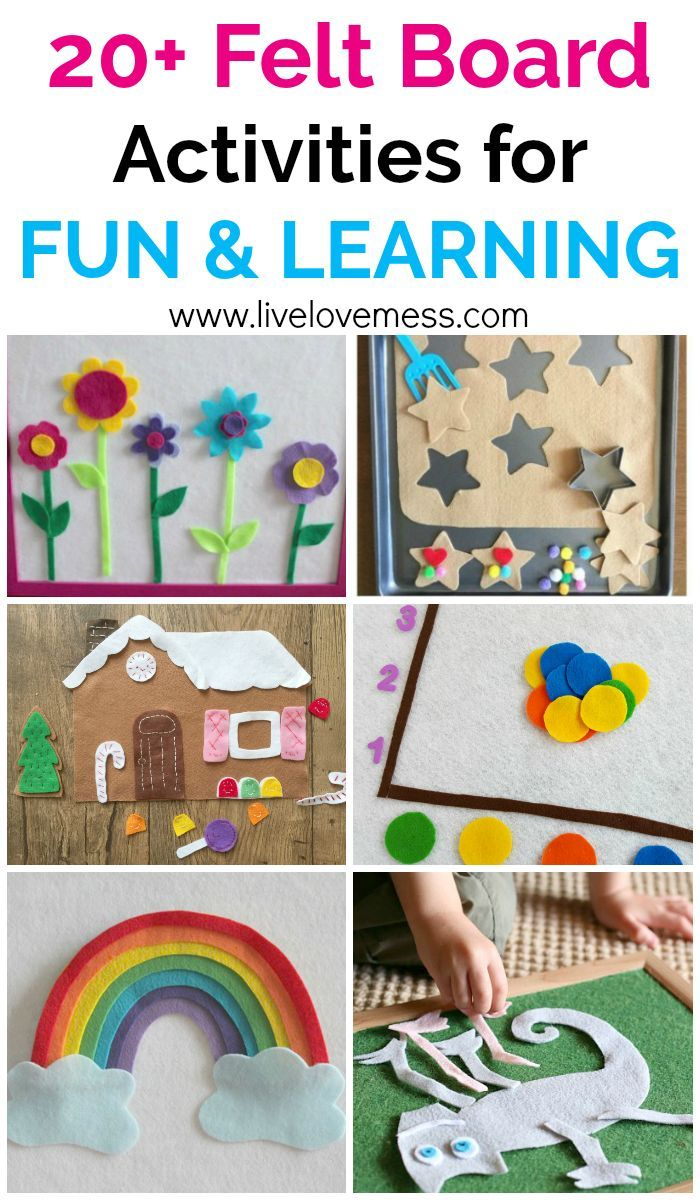 Easy to make felt board activities for babies on up. They are fun and educational. Felt board stories are a great way to increase reading comprehension in older children. Felt boards make great indoor activities for kiddos when the weather is bad, too.