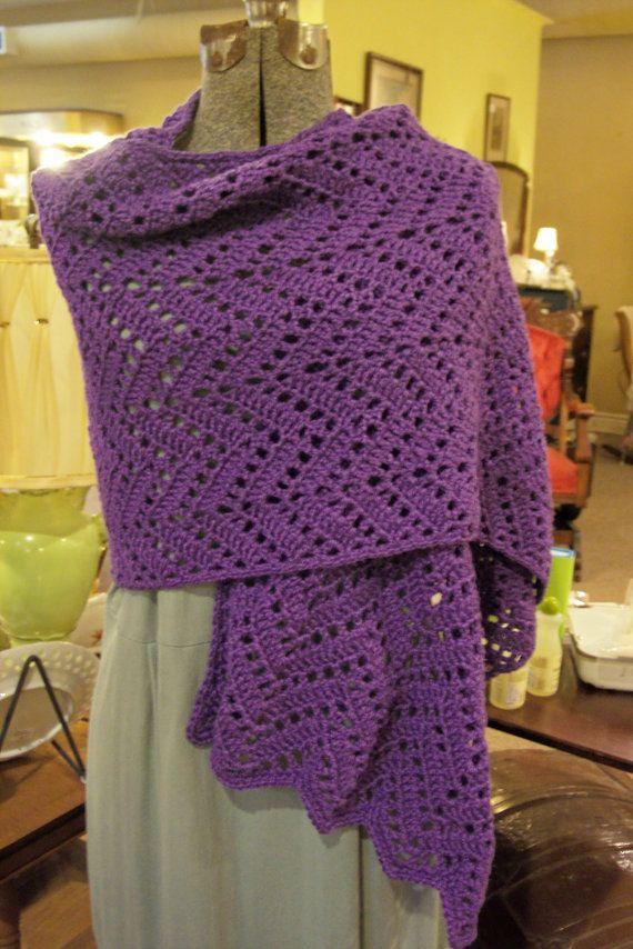 Crochet Prayer Shawl by hendersonmemories on Etsy, $95.00