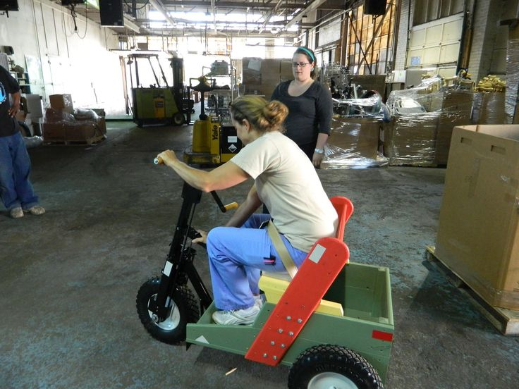 """MedWish International begins to distribute PET carts - """"We just received an awesome donation from the kind folks at PET (Personal Energy Transportation). Humanitarian Aid Specialist and test pilot Heidi test drives it for us. Check this organization out at http://petia.org/ (and at http://petinternational.org/). What looks like a fun warehouse toy for us will mean mobility for the disabled in developing countries!"""""""