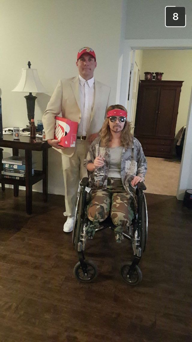 forrest gump and lieutenant dan couple halloween costume