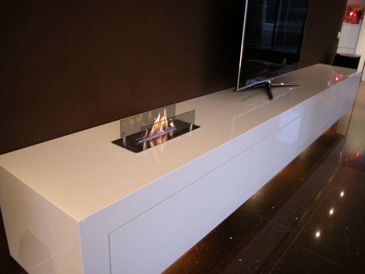 Tv meubel met bio-ethanol haard