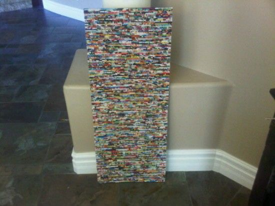 Great idea for an art piece for a room, just need to recycle all that old magazines!