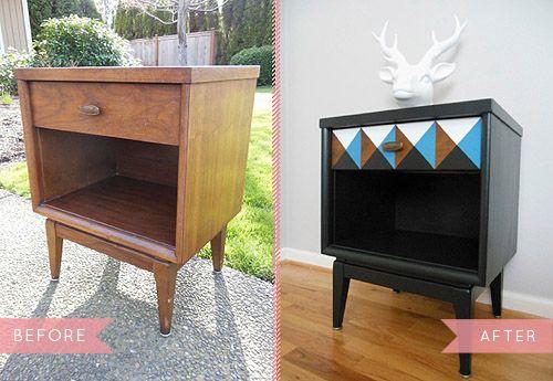 Mid century nightstand DIY