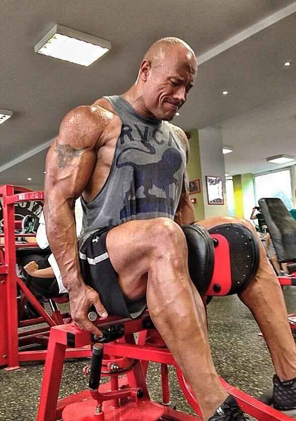 This one of his body doing this: | 32 Photos That Prove The Rock Turned Into An Actual Super Human In 2013