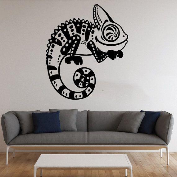 Chameleon Wall Sticker Chameleon Vinyl Decal animali da parete in vinile di decalcomanie parete Decor /9krq/