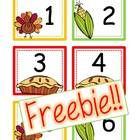 """This is a set of November calendar cards numbers 1-30 with a Holiday Thanksgiving and Veterans Day card option! Also included are 2012 and 2013 year cards! These cards are set up in an """"ABCC Pattern"""" rotation!"""