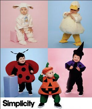 DUCK LADY BUG Halloween Costume Sewing Pattern ~ Toddler Lamb Pumpkin Witch Costumes