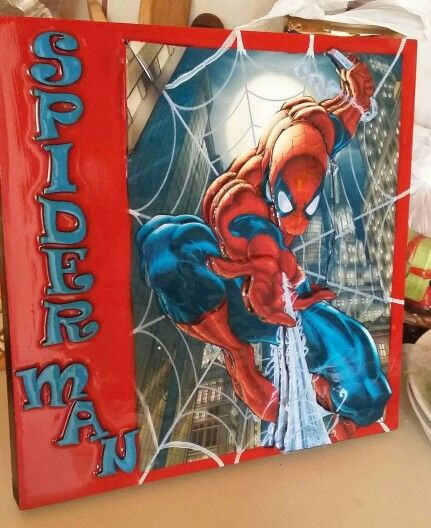 Cuadro decorativo de Spiderman en tecnica 3D
