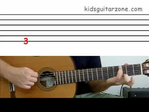 Guitar lesson 1D : Beginner -- How to read guitar tablature
