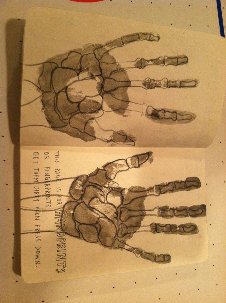 Wreck this journal wtj Handprints