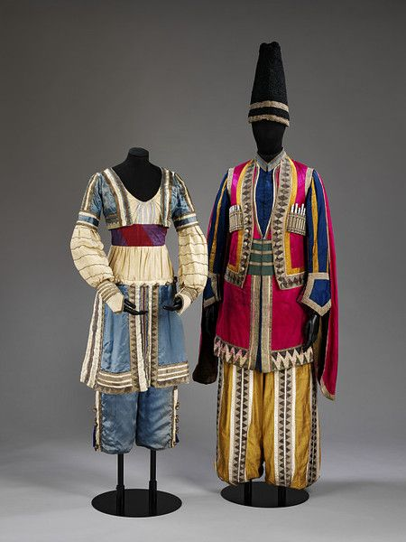 Costume worn by a lezsghin in Mikhail Fokine's ballet Thamar, Diaghilev Ballets Russes, 1912.