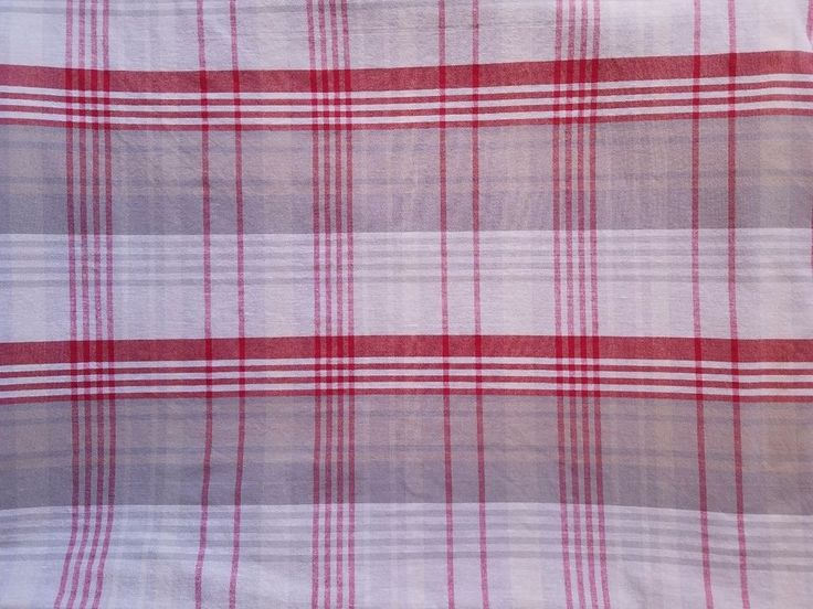 IKEA BENZY RED TAN TAUPE PLAID Twin Duvet Cover #IKEA #Modern