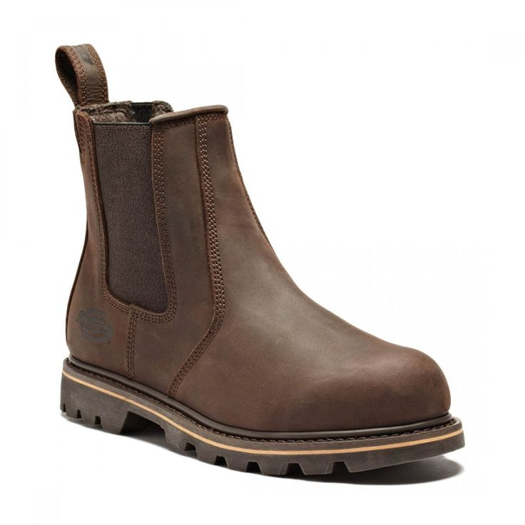Dickies Crazy Horse Brown Leather Mens Fife Safety Dealer Work Boots