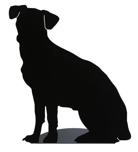 Puppy silhouette lamp in black