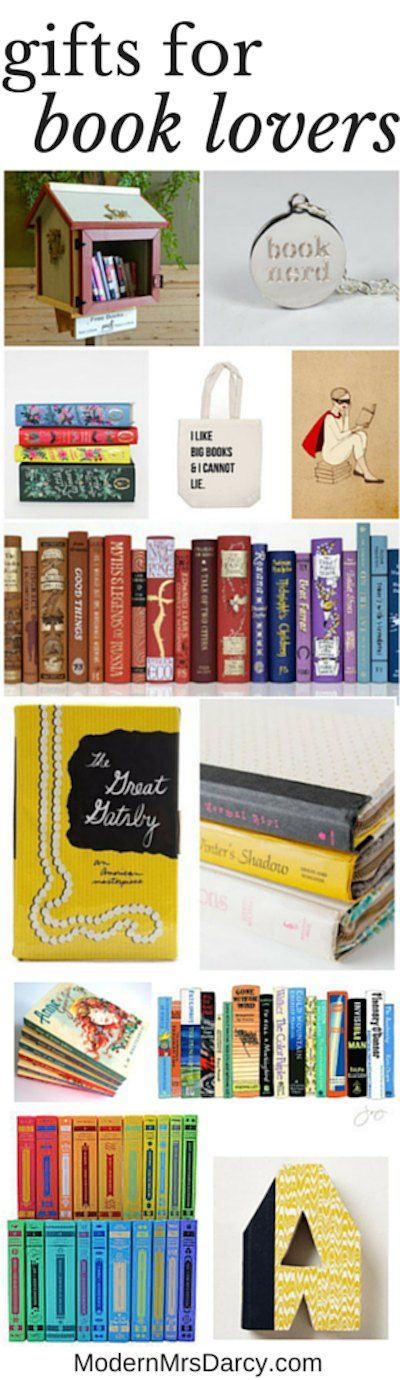 Gifts for book lovers | Modern Mrs Darcy