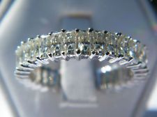 4.50 CT MOISSANITE RADIANT BAGUETTES ETERNITY BAND RING NEW