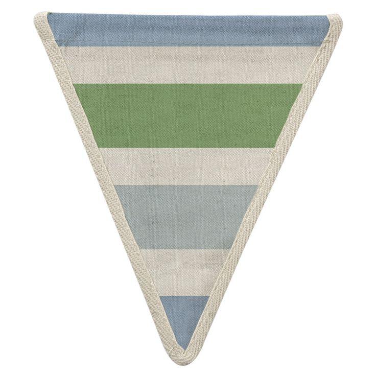 Meri Meri Alphabet Bunting - Striped Pattern -  Bunting - Meri Meri UK - Putti Fine Furnishings Toronto Canada - 1