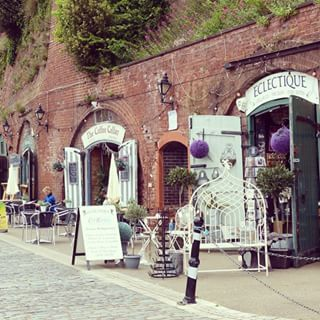 Shops and cafes on #Exeter #Quayside