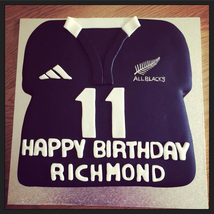 All Blacks Rugby Cake
