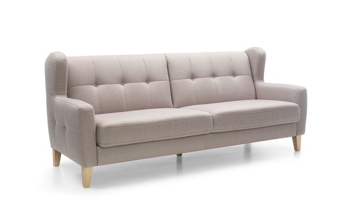 Stylowa i elegancka sofa Arno to klasyk wśród uszaków. Jest wygodna, a uroku dodają jej geometryczne pikownia i wysokie, drewniane nóżki. #GalaCollezione #SweetSit #stylangielski #meble #design #inspiracje #wnętrza #sofa