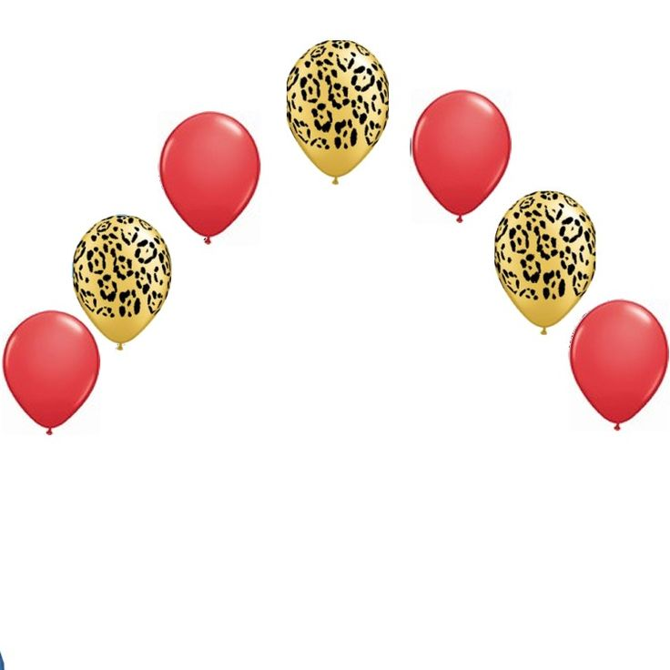 Head Table Helium Balloon Arch Diy Kit Leopard Black Or Red