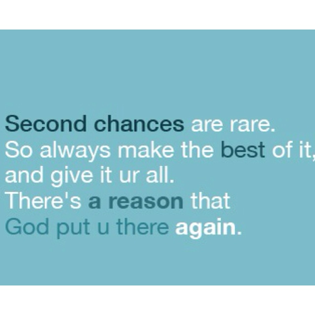 25 Best Another Chance Quotes On Pinterest