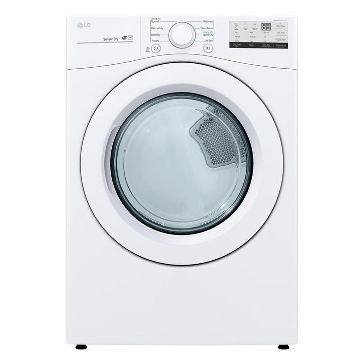 Lg electronics 74 cu ft smart white electric vented