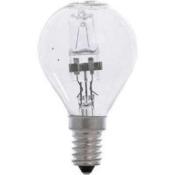 Bec halogen lustra Starke 28W, E14, P45 clar, 2000 ore, lumina calda