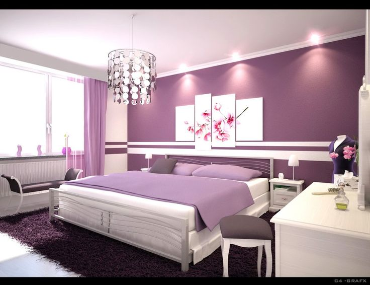 purple color for bedroom 38 Images On Chic Girl