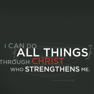 Strengthen - Philippians 4:13